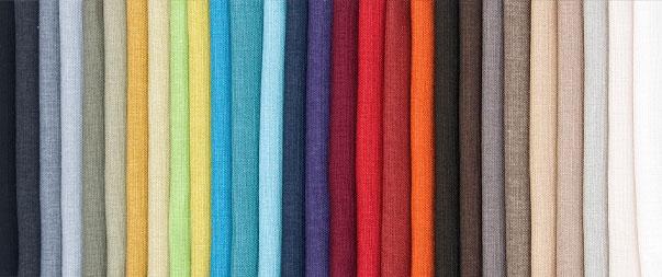 Bild på sängtyger i olika färger
